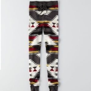 American Eagle Aztec Sweater Leggings